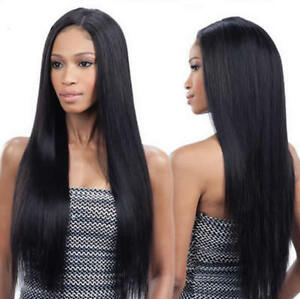 Hot-Peruvian-Human-Hair-Straight-Lace-Front-Wig-Full-Lace-Wig-Black-Baby-Hair-UK