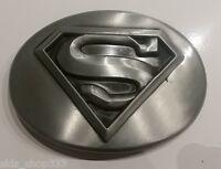 ✖ Man Of Steel Superman Dc Comics Belt Buckle Antique Silver Color Metal Movie