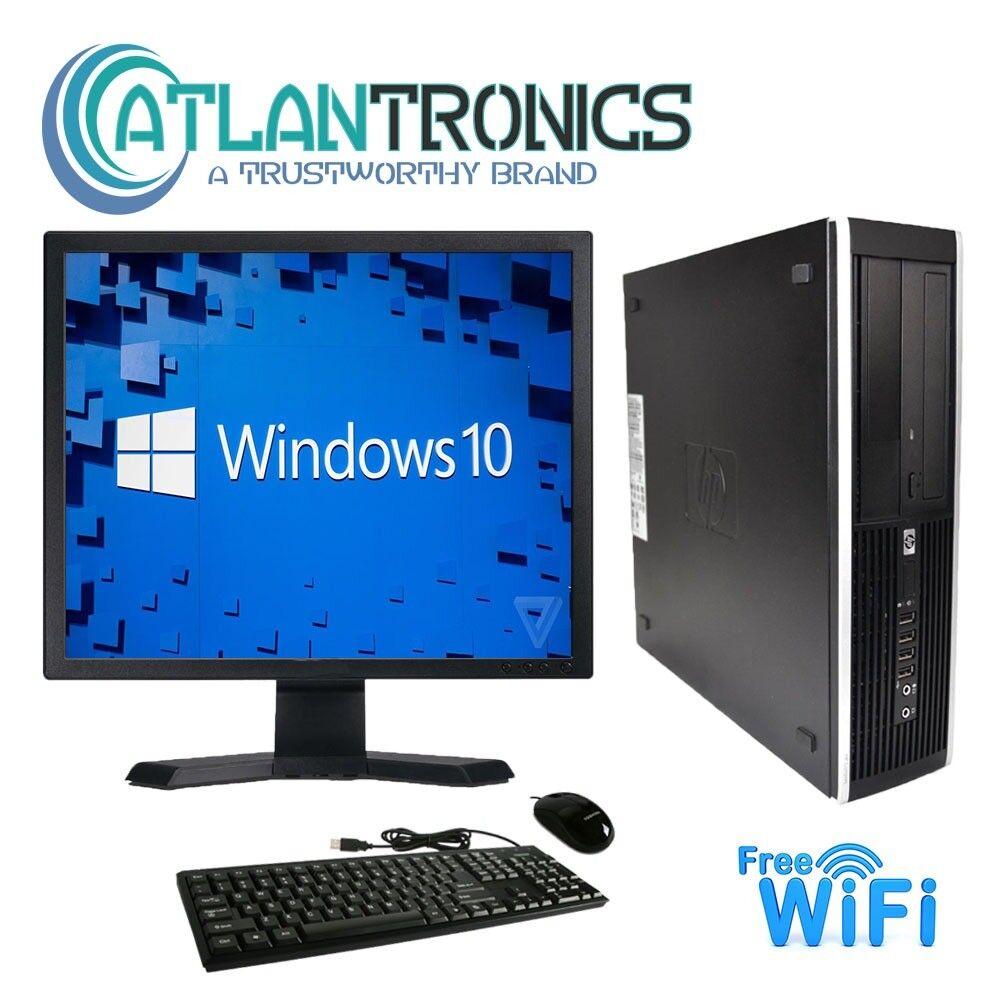 HP Desktop Computer Windows 10 PC Fast Intel Core 2 Duo 4GB 1TB HD 19″ LCD WiFi