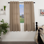 """FARMHOUSE COUNTRY PRIM SAWYER MILL CHARCOAL STRIPE 63/""""L SHORT PANEL CURTAINS"""