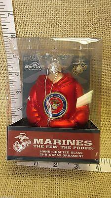"Part TV63258,Christmas By Krebs,3-1//4/"" Marines Glass Ornament Window Box. U.S"