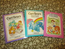 VINTAGE 1985 CARE BEARS BOOK HARDCOVER BEST WISHES BEDTIME STORES COUSINS LOT 3