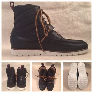 5adfced7418 Polo Ralph Lauren mens size 10 D black boots 1934 leather upper ...