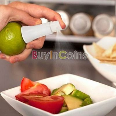 White Juice Juicer Lemon Spray Fruits Sticker Sprayer Kitchen Tools