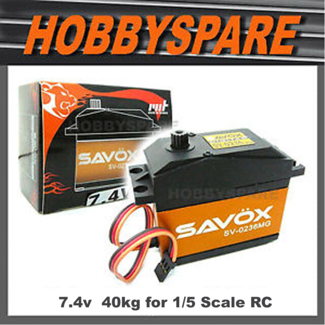 SAVOX 1/5 DIGITAL 7.4v HIGH VOLTAGE 40kg SUPER TORQUE SERVO BAJA TRUCK 0236MG