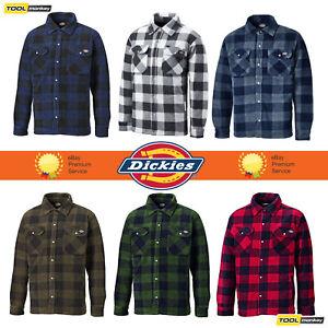 3d995613e59 Image is loading Dickies-Portland-Shirt-Mens-Fleece-Padded-Lumberjack-Stud-