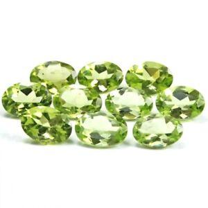 Wholesale-Lot-of-6x4mm-Oval-Facet-Cut-Natural-Peridot-Loose-Calibrated-Gemstone