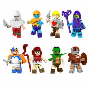 6pcs//set Cartoon Super Heroes Building Blocks Bricks Models Figures Cute Toys