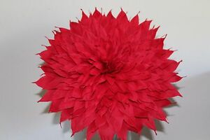 Details About X Large Crepe Paper Flower Red 13 Diameter We Make Special Orders