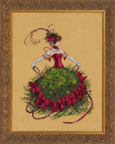 "COMPLETE XSTITCH KIT /""MISS CHRISTMAS EVE MD148/"" by Mirabilia SALE"