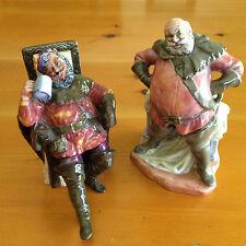 The Foaming Quart HN 2162 & Falstaff HN 2054 Set of Two Royal Doulton Figurines