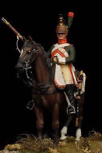 Dragone-a-Cavallo-1809-Figurino-Dipinto-a-Mano-Scala-54mm