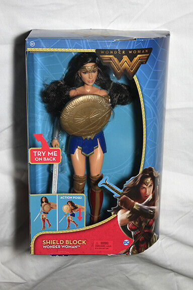 "12/"" Great Gift Mattel DC Wonder Woman Shield Block Action Doll"