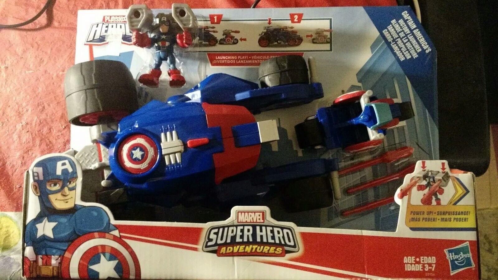 Marvel - superhelden - abenteuer playskool helden captain america ist der sieg launc...