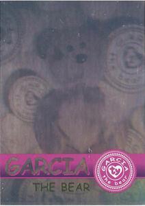 TY Beanie Babies BBOC Card - Series 2 Rare Bear (GREEN) - GARCIA (#/4444) - NM/M