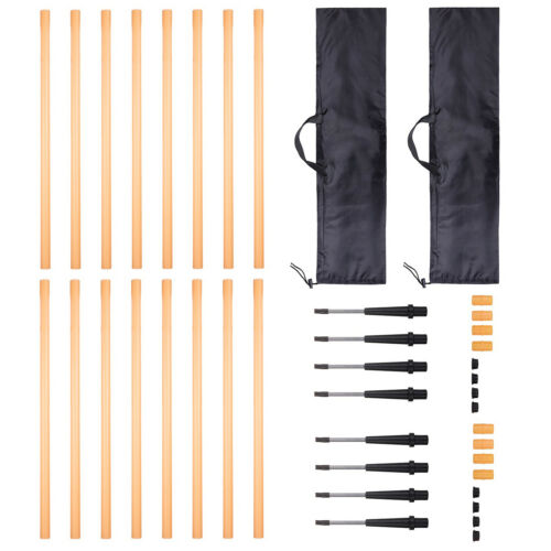 2x 4 Pack Agility Training Poles Fitness Resistance Workout Sport Slalom Soccer