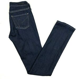 Citizens-of-Humanity-womens-Jeans-Straight-Elson-size-25-Mid-Rise-Dark-Denim