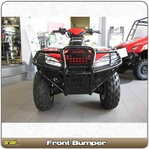 Bison 166-126H ATV Front Bumper Gloss Black Honda Rincon 650 680 2003-2019