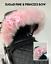 pram-hood-fur-trim-pink-grey-white-universal-hood-babies-pram-for-pram thumbnail 70