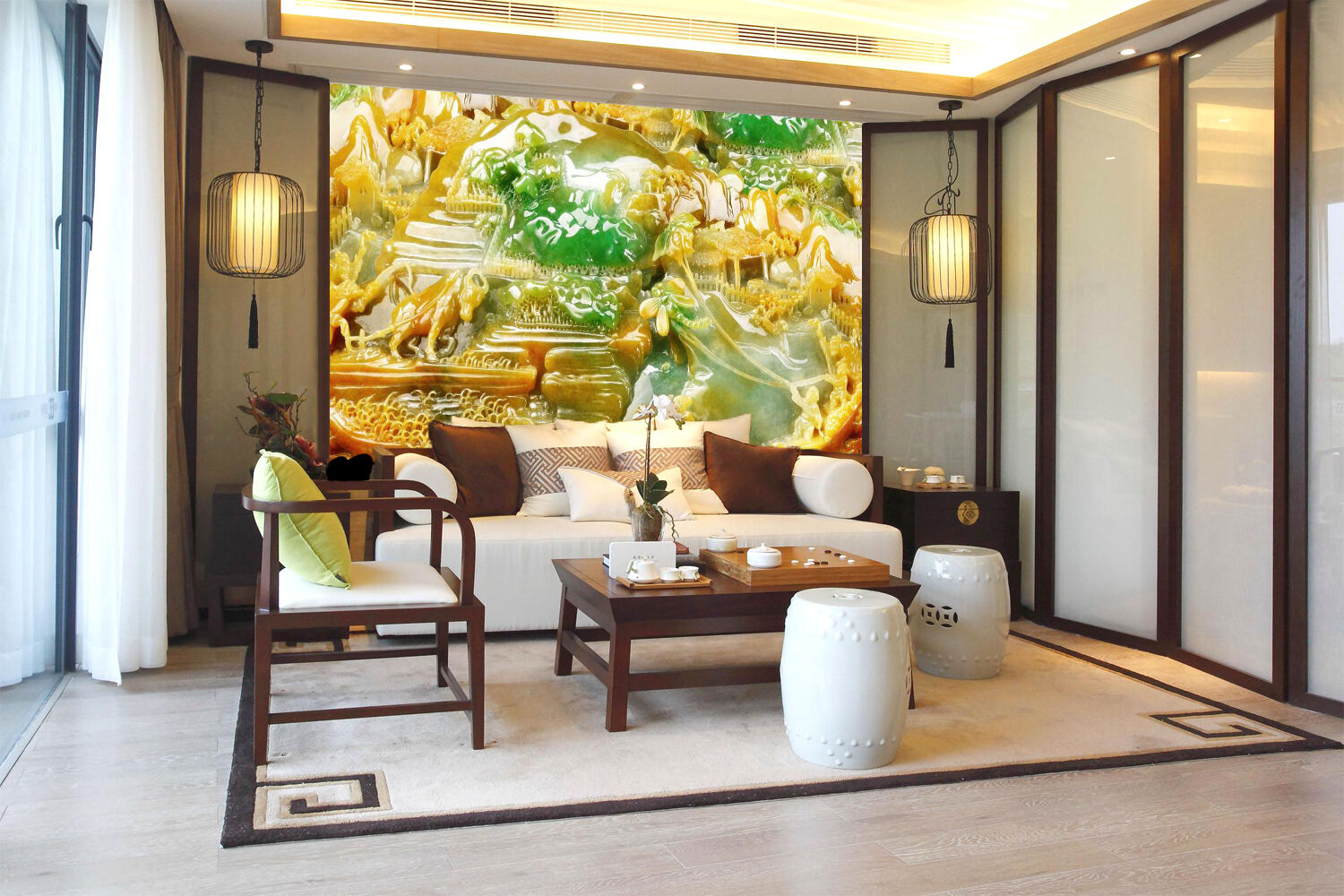 3D Jade, artwork 332 Wall Paper Wall Print Decal Wall Deco Indoor Wall Murals