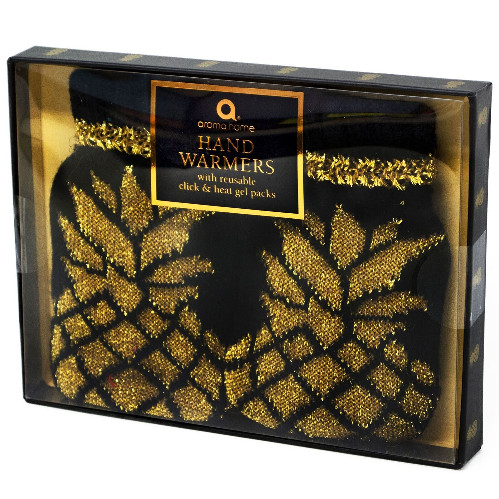 Aroma Home main main Home Warmers Set Or ANANAS Réutilisable Gel Packs De Chaleur Tricot Couverture 687719