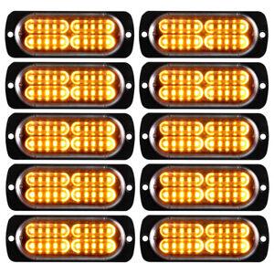 10x-Amber-20LED-Car-Truck-Emergency-Beacon-Warning-Hazard-Flash-Strobe-Light-Bar