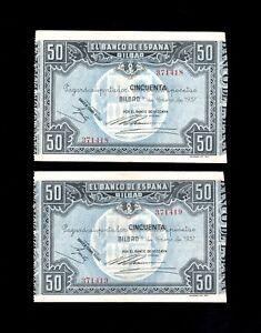 F-C-PAREJA-CORRELATIVA-50-PESETAS-BILBAO-1937-EBC