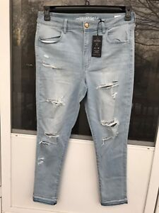 Super Distrutto Stretch American 18 Hem Jegging R Rise Hi Light Eagle Raw RRBIq