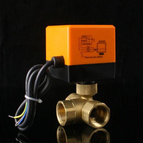 2//3 Wege Ventil Zonenventil Elektrisch Kugelventil 1 Zoll Motorkugelhahn 230V