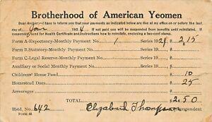 BROTHERHOOD-OF-AMERICAN-YEOMAN-FRATERNAL-INSURANCE-GROUP-1924-DUES-POSTCARD