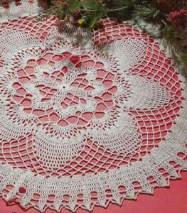 Pineapple Blossoms Doily 21 Home Decor Digest Size Crochet Pattern Instructions Ebay