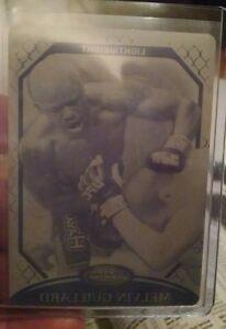 2010 TOPPS UFC Finest MMA MELVIN GUILLARD PRINTING PLATE 1/1 black
