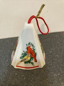 Vintage Jasco Porcelain Festive Fragrant Ornament Cardinal Birds