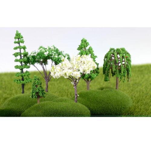 5pcs Miniature Cedar Tree Garden Ornament Figurine Fairy Craft Decor S