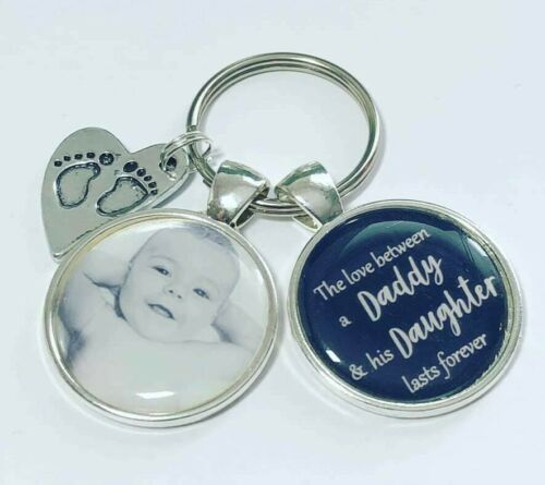 Personalised Daddy Daughter photo keyring love between Daddy /& Daughter gifts