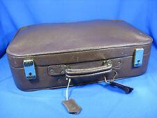 Schöner  alter Kinderkoffer / Handkoffer Leder mit Schlüsseln + Adress Schild