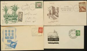 ISRAEL-1948-amp-1949-FDC-COLLECTION-Tabul-Petach-Tikva-Constitute-Assembly