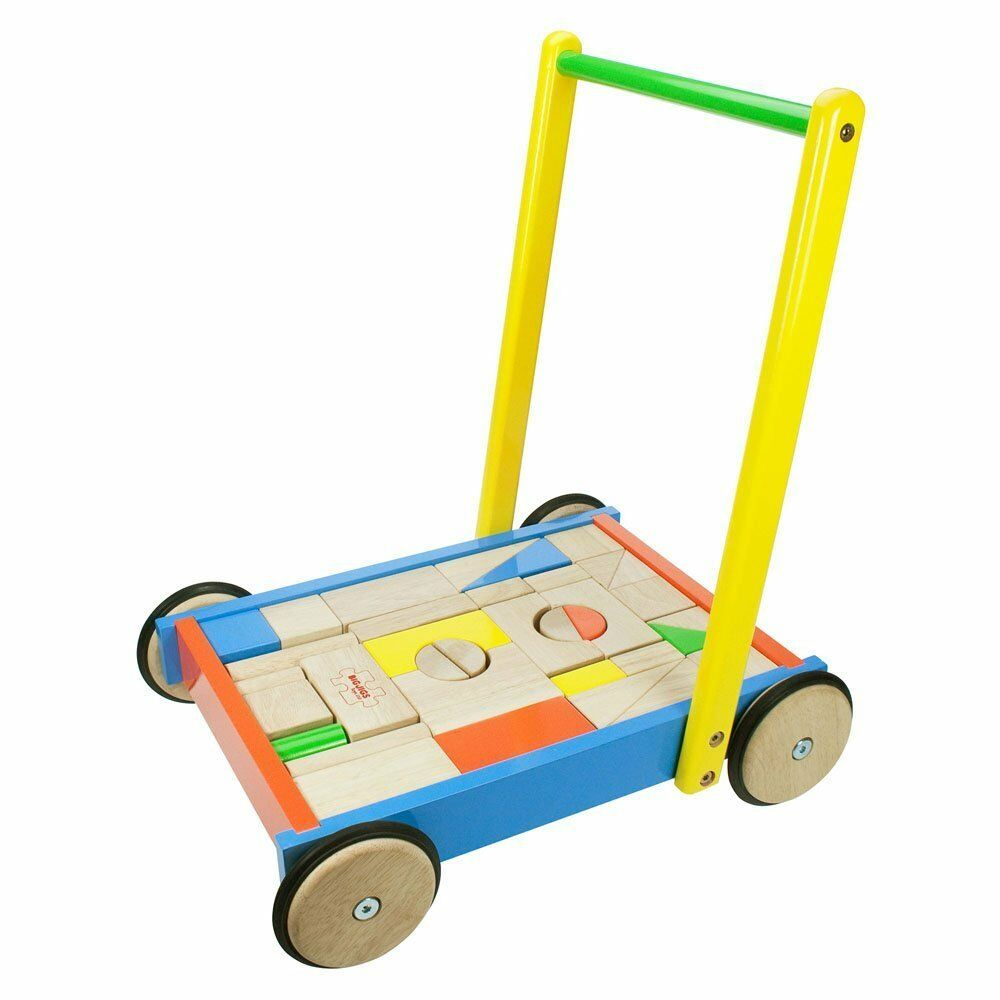 Bigjigs Toys BB024  Baby-Lauflernwagen NEU OVP
