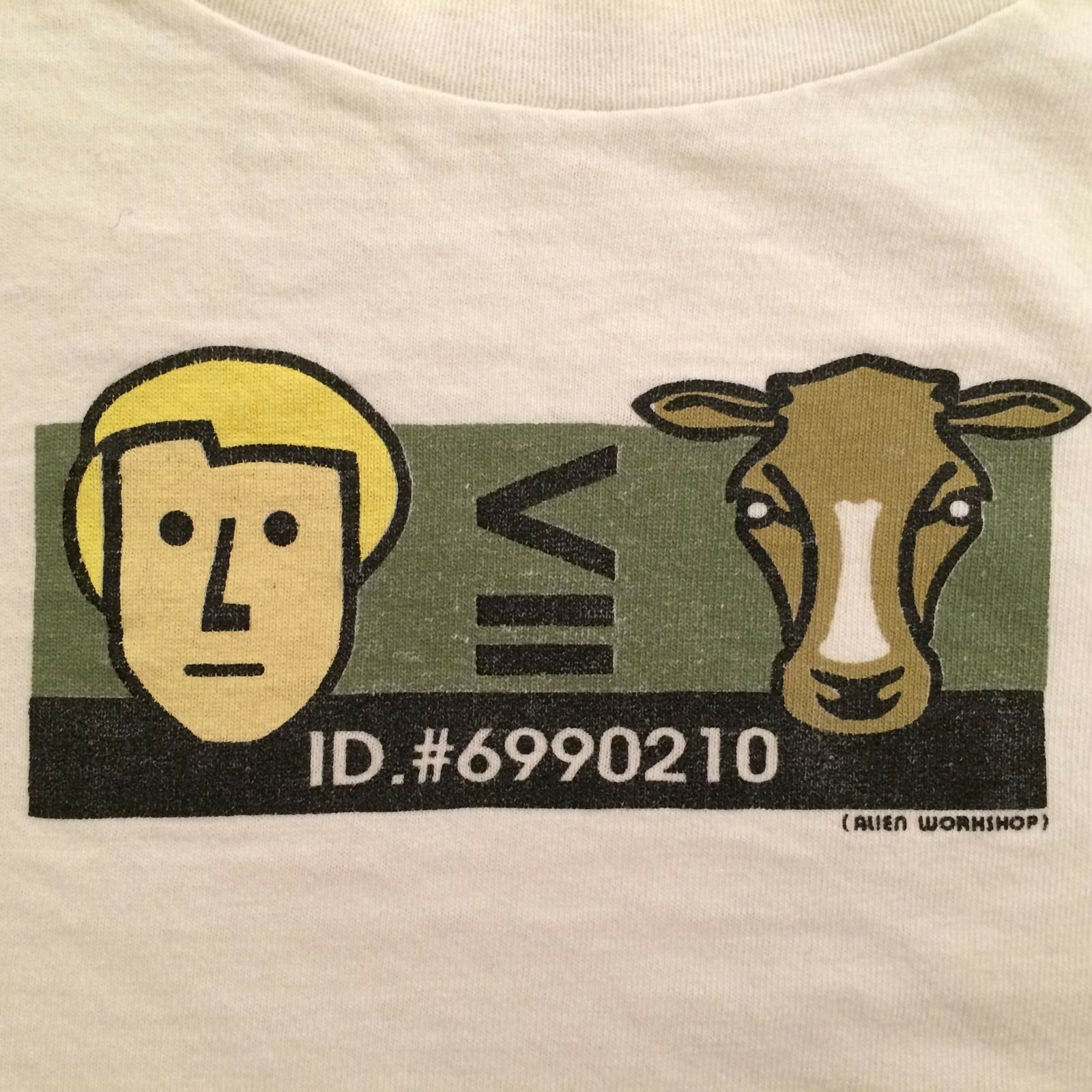 ALIEN WORKSHOP MAN IS LESS THAN COW T-SHIRT Extra Large XL
