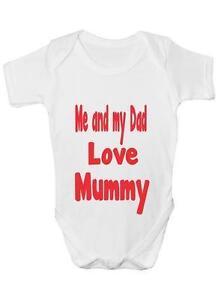 Ich und My Dad Liebe Mutti Strampler Weste Baby Kleidung Lustig Geschenk