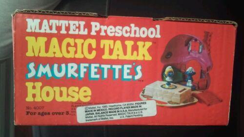 Mattel De Schtroumpfette Talk Maison Nouveau House Magic 1983 gwq1A76