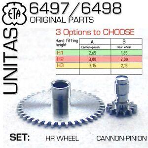 HOUR-WHEEL-CANNON-PINION-SET-FOR-MOVEMENT-ETA-UNITAS-6497-6498-H1-H2-OR-H3