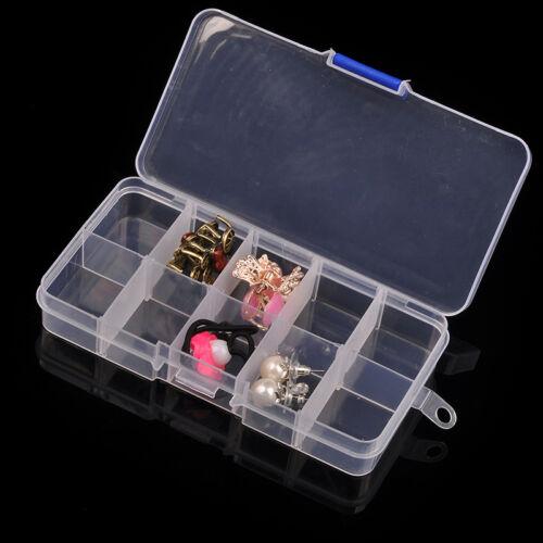 10//15//24//28 Slots Adjustable Jewelry Organizer Boxes Case Beads Storage Box