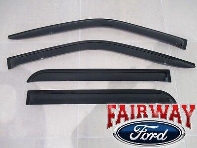 09 thru 14 F-150 OEM Genuine Ford Smoke Side Window Deflector Kit 2-pc REG Cab