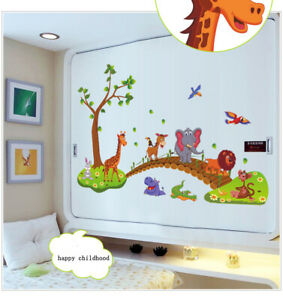 Details About Cartoon Cute Animals Removable Wall Decal Stickers Kids Baby Nursery Room Décor