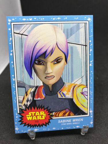 2020 Topps Star Wars Living Set #113 SABINE WREN Rebels Print Run 1,480