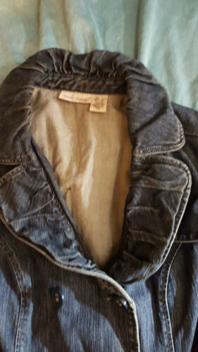 In Coat Denim Good Ladys' Very Dkny Condition Rare SizeLarge wvnOm08N