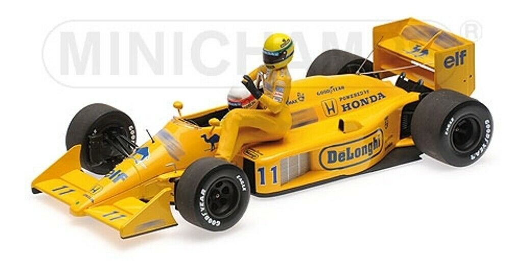 MINICHAMPS 540 874311 LOTUS HONDA 99T  F1 model Senna on Nakajima's voiture 1987 1 43  grand choix