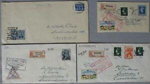 s1879-Raketenpost-Rocket-Mail-Niederlande-5-Belege-Raket-vlucht-1945-46