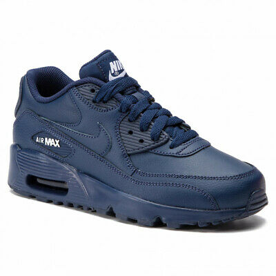 Realistico Gioventù Per Ragazzi Nike Air Max 90 Pelle Gs Scarpe Da Ginnastica Blu 833412 412 Uk 5 Eu 38- Attraente E Durevole